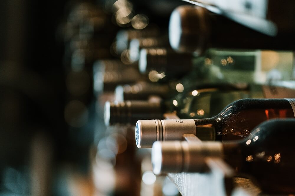 ワインボトルの写真