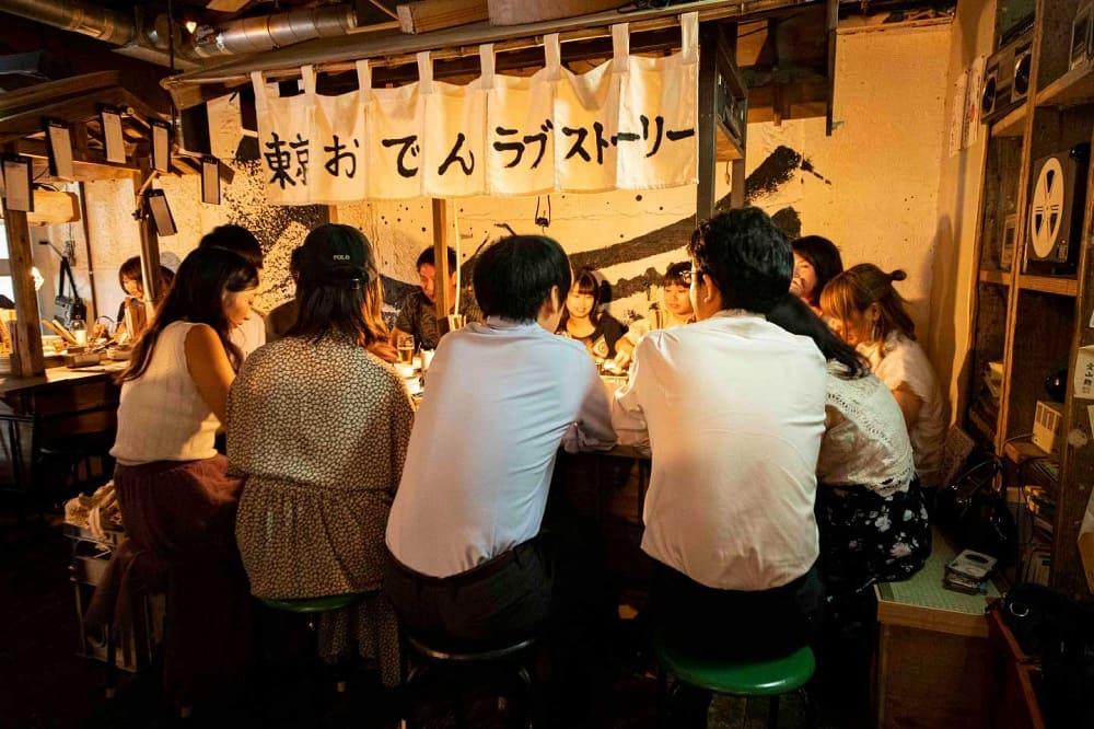 東京おでんラブストーリー裏コリドー店の店内写真