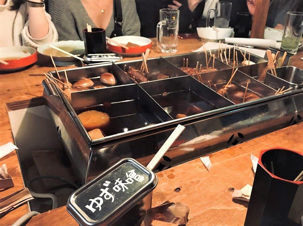 東京おでんラブストーリー裏コリドー店のおでん写真