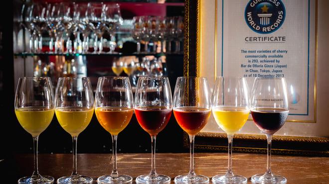 Bar de Ollaria銀座店のシェリー酒の写真