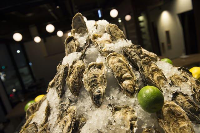 トリニティ オイスターハウス銀座店の牡蠣写真