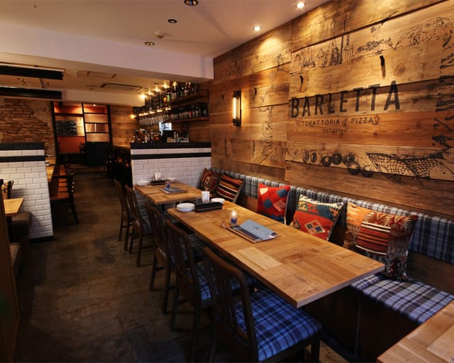 トラットリア&バールバルレッタ銀座7丁目店の内装写真