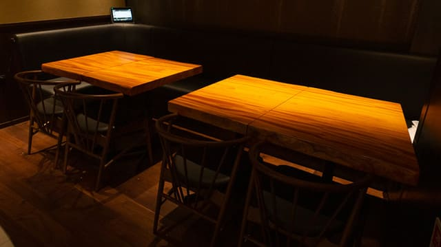 電光石火 銀座店のテーブル写真