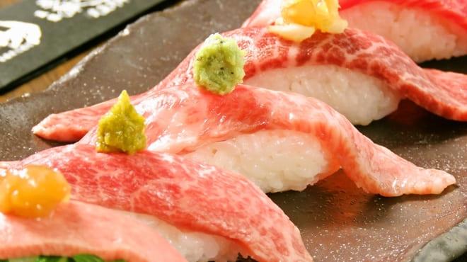 焼肉 炙屋武蔵の肉寿司写真