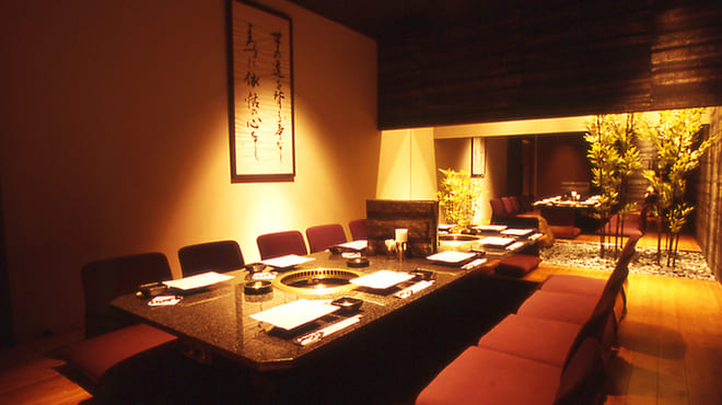 焼肉 炙屋武蔵の掘りごたつ席写真