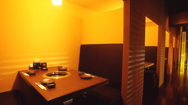 焼肉 炙屋武蔵の半個室写真