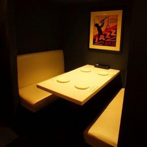 俺のフレンチ銀座コリドー街のボックス席写真