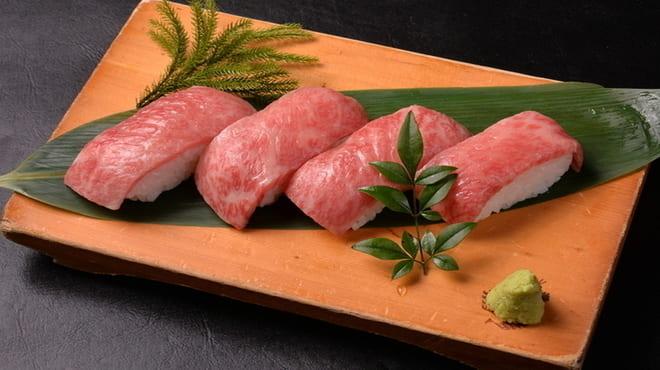 牛屋 銀兵衛 銀座7丁目の肉寿司写真