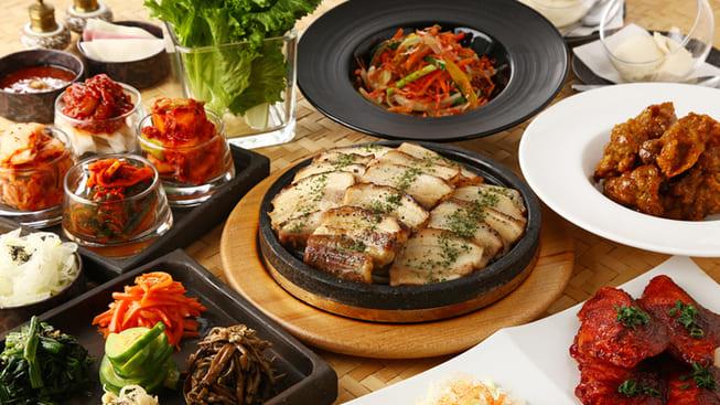 個室×韓国料理 銀座MUNのコース料理写真