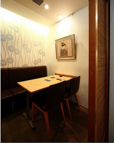 鰻割烹 大和田 銀座コリドー店の半個室写真